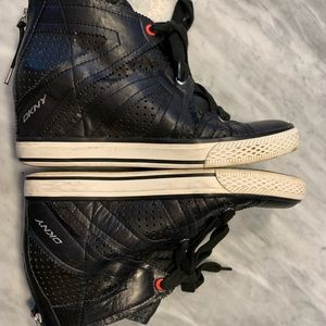 DKNY Wedge Sneaker Black Size 8.5 39